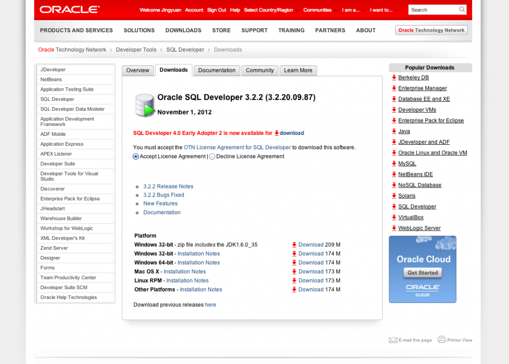 Download and install Oracle SQL developer - MAC OS X - All