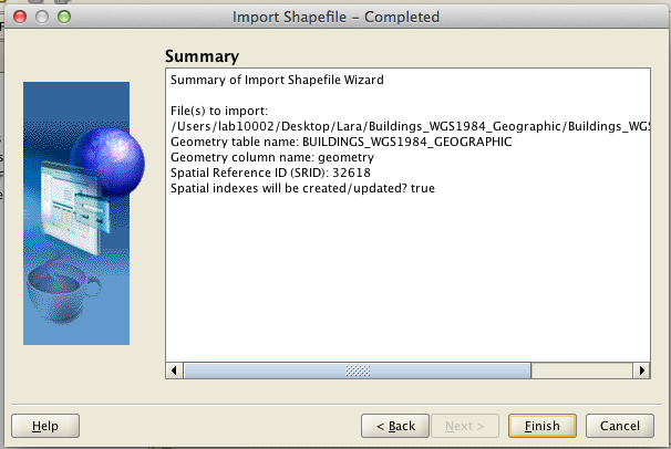 Quick Reference - How to import ESRI Shapefiles into Oracle